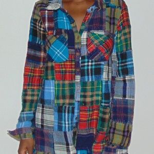 Tops - Patchwork button up
